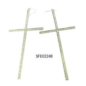 Fashion Jewelry Cross Earring (SFE0224A)