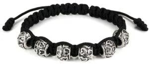Silver Charm Bead Bracelet (VE69)