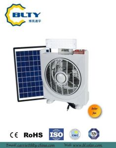 2017 Solar Portable Rechargeable Fan with LED Light pictures & photos