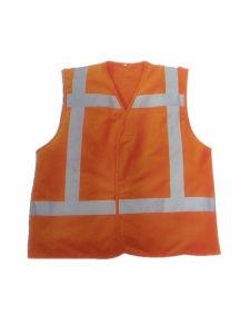 Hi-Viz Safety Vest with Reflective Bands (HS-V006)