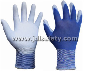 Blue Work Glove with PU Dipping (PN8004-18) pictures & photos