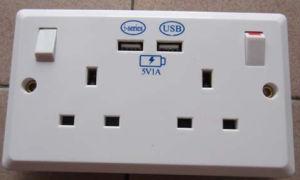 UK USB Wall Socket, 13A USB Wall Socket 1A pictures & photos