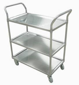 Stainless Steel Service Trolley - 3 Tiers