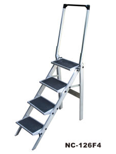 Industrial Aluminum Ladder for 4 Steps with SGS (Nc-126f4)
