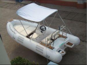 4.8meters Rigid Inflatable Fiberglass Hull Boat with Teak Floor