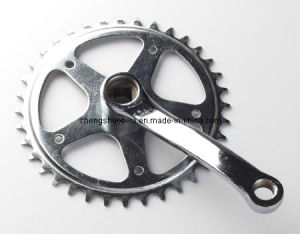 Single Speed Cp Finished Chainwheel & Crank Ck-031 pictures & photos