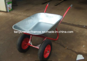Double Wheel for Wheelbarrow/Wheel Barrow Wb6404W to Russia Marke pictures & photos