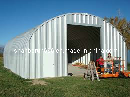 Abalone Shell Shaped Steel Structure Workshop Steel Building (br00136)