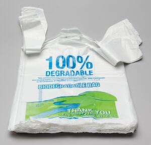 China biodegradable plastic bag with core bdb08 china for Plastic t shirt bag