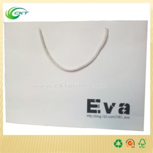 White Printing Shopping Paper Bags Wholesale (CKT-PB-362)