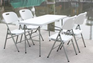 4 Foot Rectangle Fold -in- Half Plastic Table (SY-122Z) pictures & photos
