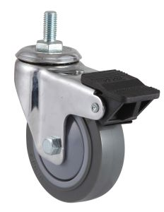 Swivel Wheel PU Caster with Side Brake pictures & photos