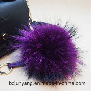 Real Raccoon Fur Knitting Hats with Pearls Decoration pictures & photos