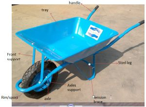 Strong Wheelbarrow for Indian Wheelbarrow Wb6209 pictures & photos