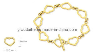 Fashion Alloy Heart Bracelet