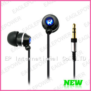 Stereo Headset Metal Earbud for MP3 With Leather Packing