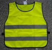 Safety Reflective Vest With Hook-and-Loop Fastener and Elastic Band, Made of 100% Polyester pictures & photos