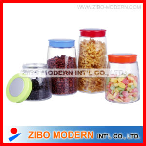 Wholesale Large Glass Food Storage Jar with Plastic Lid pictures & photos