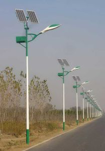 10m 90W LED Solar Street Lights with 200W Solar Panels pictures & photos