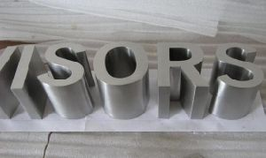 Brushed and Polished Non-Illuminated Metal Stainless Steel 3D Letter Sign pictures & photos
