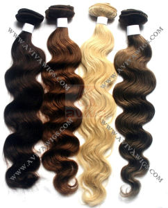 Human Hair Weft Remy Human Hair Extension (AV-HE005A) pictures & photos