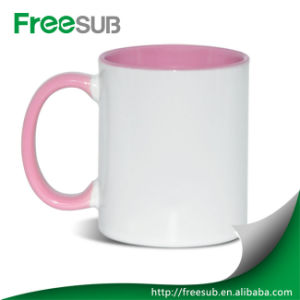 Promotional Gifts Wholesale Inner Red Color Ceramic Sublimation Mug Blank pictures & photos