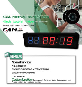 [Ganxin] Double Display Crossfit Fitness Timer for Sports pictures & photos