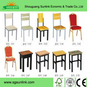 Wood Steel Fast Food Restaurant Furniture (HF-A015) pictures & photos