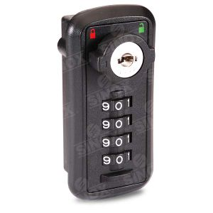 Decode Function 4 Dial Resettable Combination Locker Locks with Override Emergency Key pictures & photos