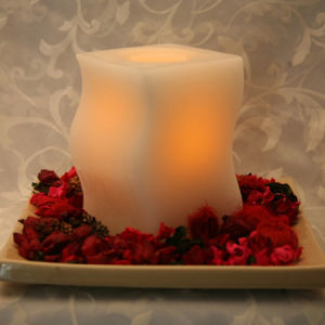 Ivory S Shaped LED Candle (UCL-7001)