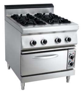 Commercial 4-Burner Gas Range with Electric Oven pictures & photos