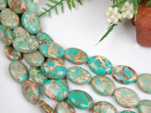 Sea Sediment Jasper Beads, 13*18mm Elliptic Beads