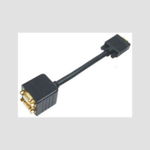 Gold Plated 15pin VGA to 2*VGA Jack Cable/VGA Cable
