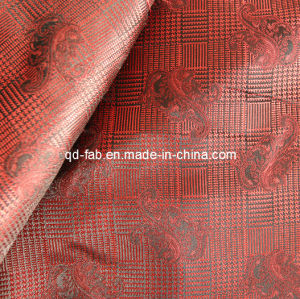 100% Poly Yarn Dyed Red Jacquard (JF-4) pictures & photos