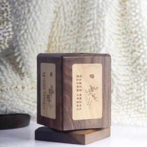 Classical Rotatable Wooden Pen Holder (SYT-DPH105WM-1-1)