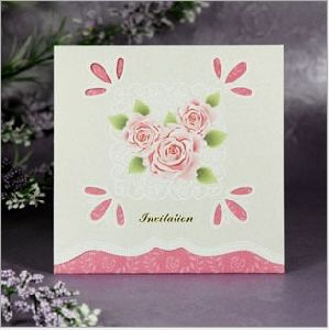 Ordinary Rose Wedding Invitations Card