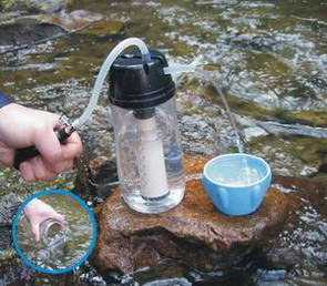 Travel Water Filter for Camping and Fishing in Outdoor (PF114)