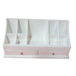High Quality Customized Solid White Wooden Display Holder with Drawers pictures & photos
