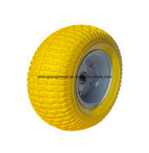 Wheelbarrow PU Foam Wheels 4.00-8 3.50-8 4.00-6 3.50-4 Flat Free Tire pictures & photos