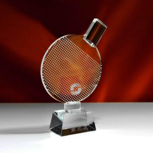 Wholesale Glass Sport Trophy with Base as Business Gift (KS04235) pictures & photos