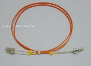 Fiber Patch Cord for LC-LC Duplex Om2 Orange Cable (2m) pictures & photos