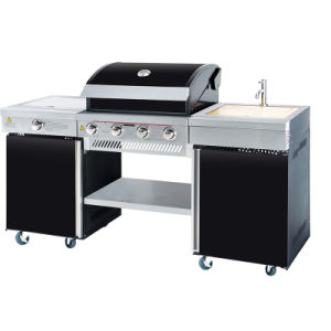 Outdoor Gas Barbecue Kitchen with Side Burner and Sink pictures & photos
