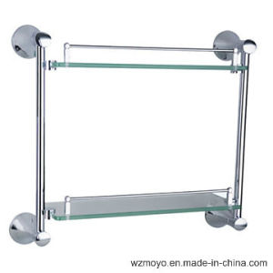 Double Glass Shelves in Chrome Plating Finish pictures & photos