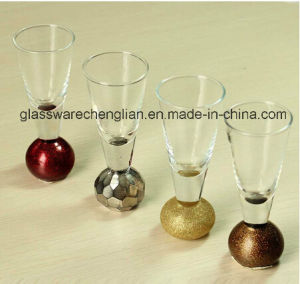 Unique Gold&Silver Bottom Ball Shot Glass (B-STG014) pictures & photos