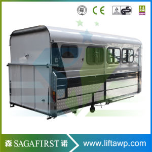 Sinofirst Economic Angle Straight Load Horse Float Trailer pictures & photos