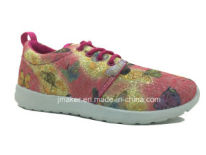 Fashion Ladies Fabric Running Footwear with Lace (J2285-L)