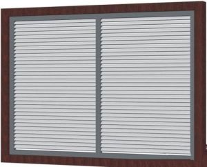 Powder Coated Aluminum Metal Iron Window Shutter Blind Window Fixed Louver pictures & photos