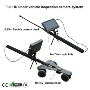 New Arrival 1080P HD Mini Under Vehicle Inspection CCTV Camera Mast Pole with Wheels with 7 Inch DVR System pictures & photos