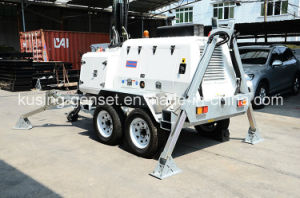 H1000 Series with 15kVA 404D-22g Mobile Light Tower Generator Set/Diesel Generator pictures & photos
