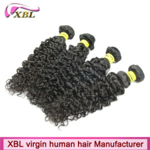 Kinky Curly Natural Black Virgin Peruvian Human Hair Extensions Cheap pictures & photos